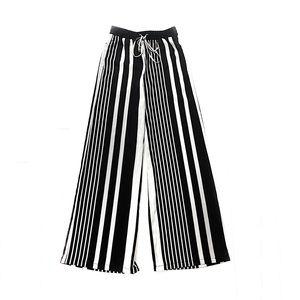H&M Wide Leg Striped Flowy Pants